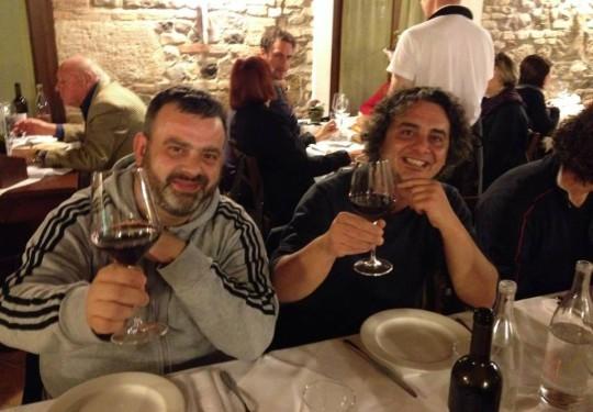 A cena con Alfredo Salaccione.