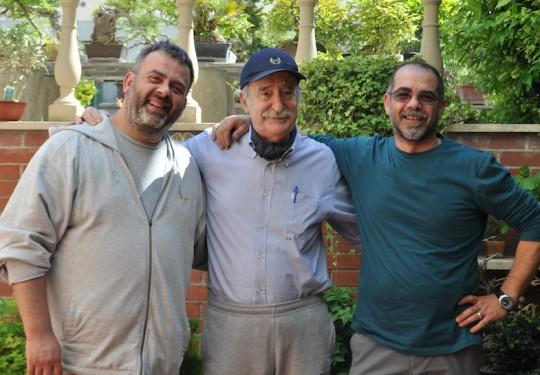 con Fabrizio e il mitico e inossidabile Gianfranco Giorgi